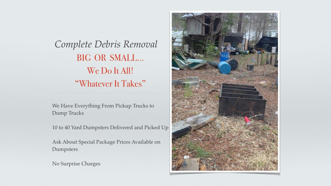 Junk Removal Charleston Debris Removal Trash Removal