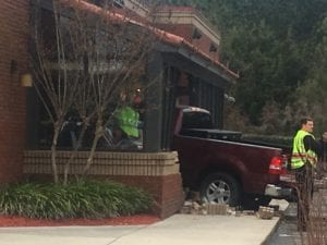 Truck Drives Into Applebees North Charleston